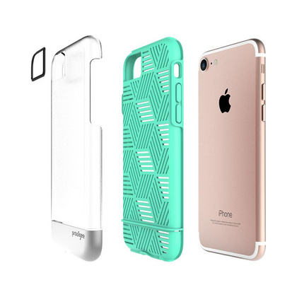 Prodigee Stencil case for iPhone 6/6s/7 - Teal/Silver