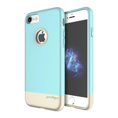 Prodigee Fit case for iPhone 7 - Aqua/Gold