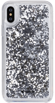 Copy Comma Pattern Series Crystal Case for iPhone X - Stars