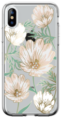 Comma Flower Series Case for iPhone X - Transparent/Crystals