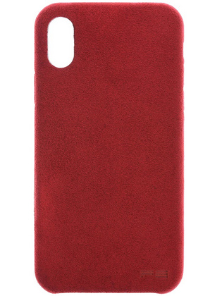 Power Support Ultrasuede Case for iPhone X  - Red