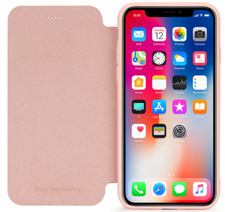 Meleovo Napa Flip Case for iPhone 7 Plus - Pink