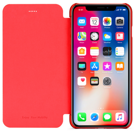 Meleovo Smart Flip Case for iPhone 7 - Red