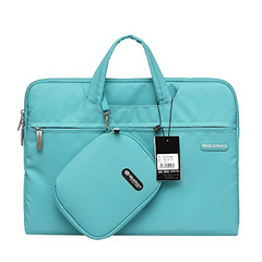 "Gearmax Waterproof 13.3"" Laptop Bag for MacBook with Small Case and Mousepad - Blue Green"