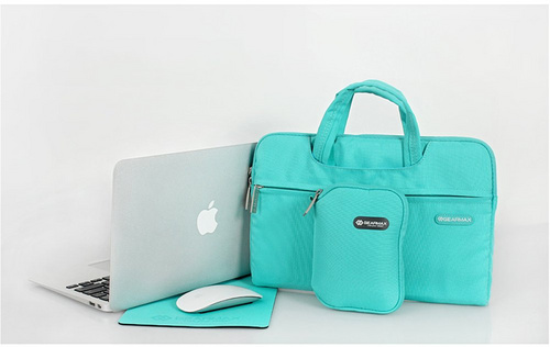 "Gearmax Waterproof 13.3"" Laptop Bag for MacBook with Small Case and Mousepad - Blue"