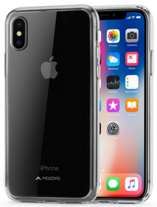 Meleovo Acry Case for iPhone X - Transparent