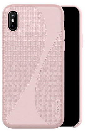 Nillkin Flex Liquid Silicone Case for iPhone X/Xs - Pink Sand