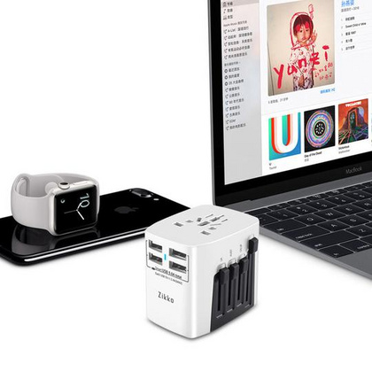 Zikko 4USB Worldwide Travel Adaptor