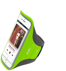 "WIWU Sport Waterproof Adjustable Cell Phone Armband up to 5.5"" - Green"
