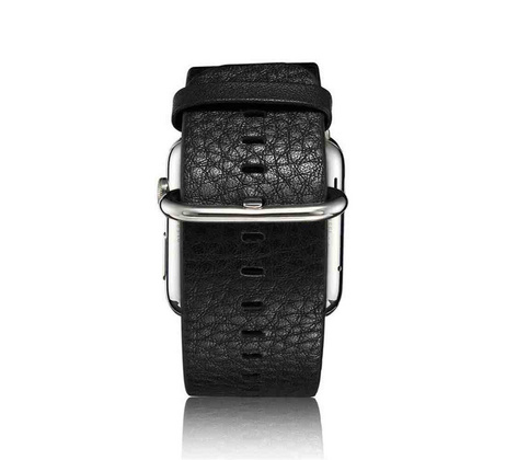 Coteetci Leather Strap for Apple Watch 42mm | 44 mm - Black