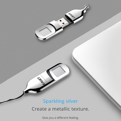 Eaget Fingerprint Encryption USB Flash Drive 32G - Silver