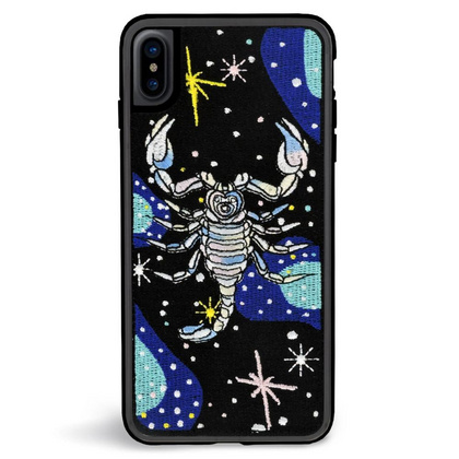 ZG Embroidered Case for iPhone Xs Max - Scorpion