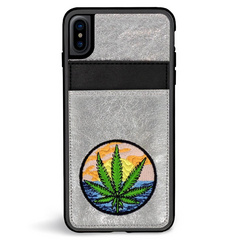 ZG Embroidered Wallet Case for iPhone X/Xs - Baked