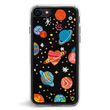 ZG Embroidered Case for iPhone 7/8 - Cosmos