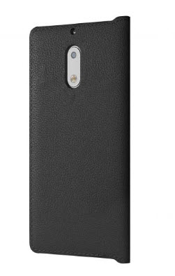 Mozo Leather Flip Case for Nokia 6 - Black