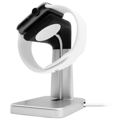 Macally Stand for Apple Watch - Silver