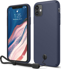 ELAGO Slim Fit Strap Case for iPhone 11 - Jean Indigo