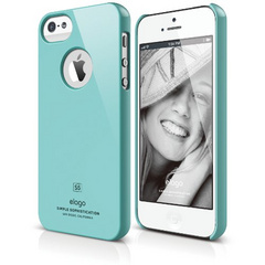 Elago S5 Slim Fit Case for iPhone 5/5s/SE - Coral Blue