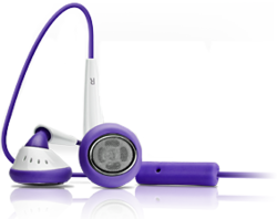 iSkin earTones - Purple / White