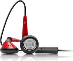 iSkin earTones - Black / Red