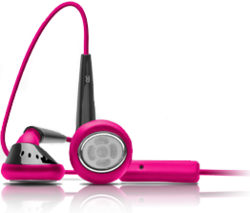 iSkin earTones - Pink / Black
