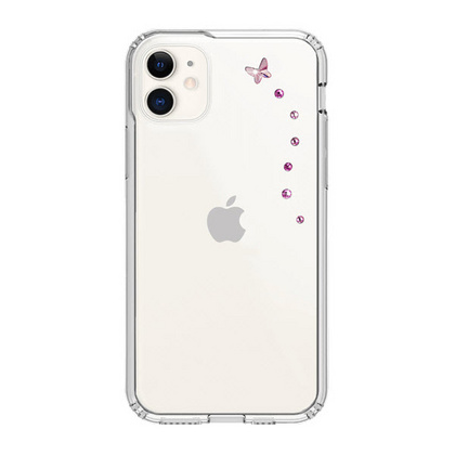 BMT Papillon Clear case for iPhone 11 - Rose Sparkles