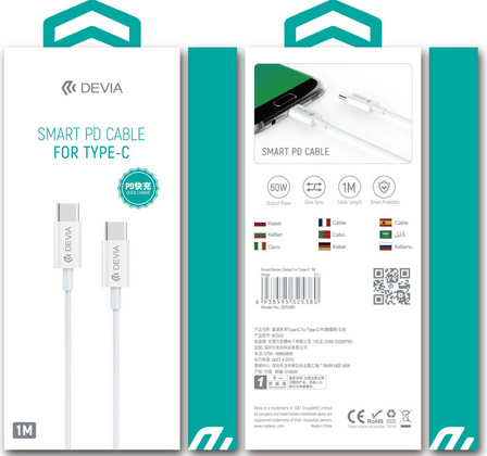 Devia USB-C to USB-C PD Cable - White