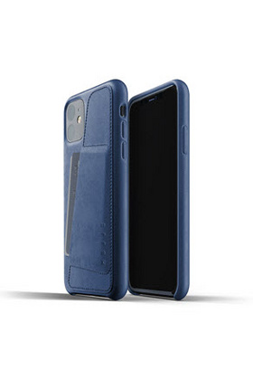 MUJJO Full Leather Wallet Case for iPhone 11 Pro - Monaco Blue