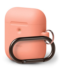 Elago Wireless Airpods Silicone Hang Case - Peach