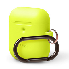Elago Wireless Airpods Silicone Hang Case - Neon Yellow