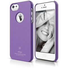 Elago S5 Slim Fit Case for iPhone 5/5s/SE - Soft Feeling Purple