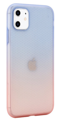 Gradient Liquid Silicone Soft case for iPhone 11 PRO - Blue-Pink