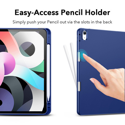 Sdesign Silicone Case with Apple Pencil holder for iPad Air 4 - Blue