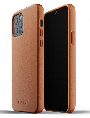 MUJJO Full Leather Case for iPhone 12 PRO Max - Tan