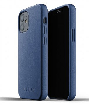 MUJJO Full Leather Case for iPhone 12 Mini - Blue