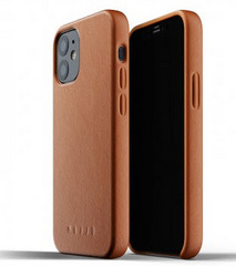 MUJJO Full Leather Case for iPhone 12 Mini - Tan