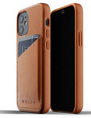 MUJJO Pocket Leather Case for iPhone 12 Mini - Tan