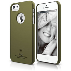 S5 Slim Fit Case - Soft Feeling Camo Green