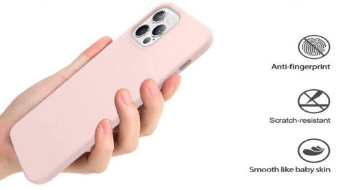 Original Silicone Case for iPhone 12/PRO - Pink Sand