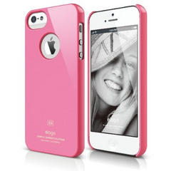 Elago S5 Slim Fit Case for iPhone 5/5s/SE - Hot Pink