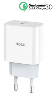 HOCO PD Quick Wall Charger - White