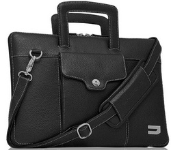 Attache Leather Bags - Black