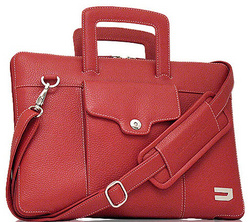 Attache Leather Bags - Red