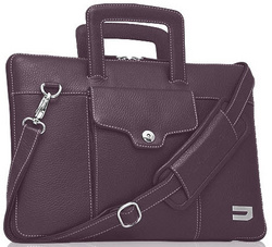 Attache Leather Bags - Purple