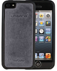 Urbano Leather Case for iPhone 5/5s/SE - Grey Vintage