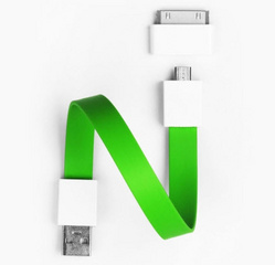 Mohzy Loop Android & Apple USB Cable - Fresh Lime (Green)