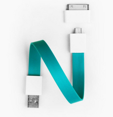 Mohzy Loop Android & Apple USB Cable  - Tidal Blue