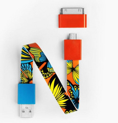 Mohzy Loop Android & Apple USB Cable  - Butterfly