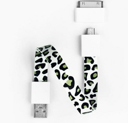 Mohzy Loop Android & Apple USB Cable  - Snow Leopard