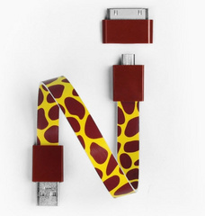Mohzy Loop Android & Apple USB Cable - Giraffe